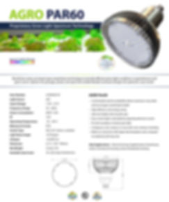 Par 60 LED Grow Light Spec Sheet