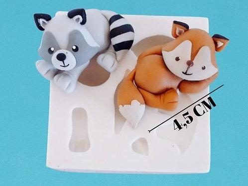 Molde de silicone raposinhas