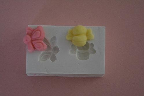 Kit mini borboleta e abelhinha