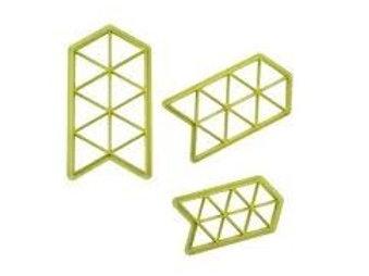 Jogo Cortadores Blue Star Geométrico Triângulo com 3 peças R$ 19,90