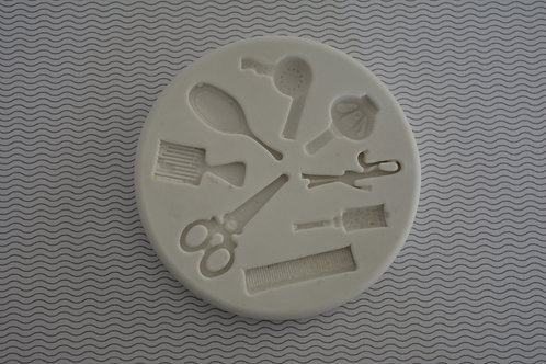 Molde de silicone kit cabeleireira