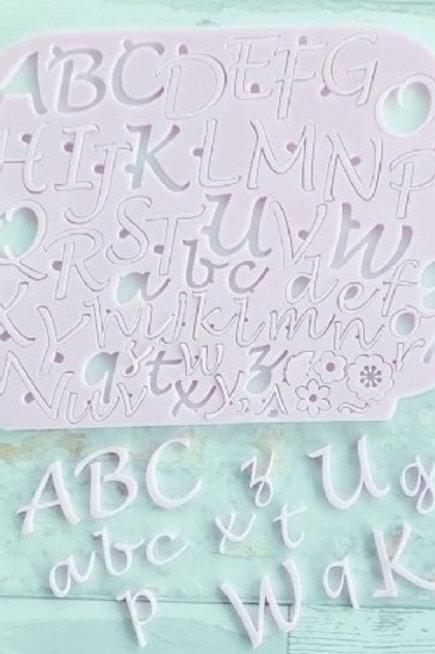 Placa marcadora alfabeto maiúsculo e minusculo
