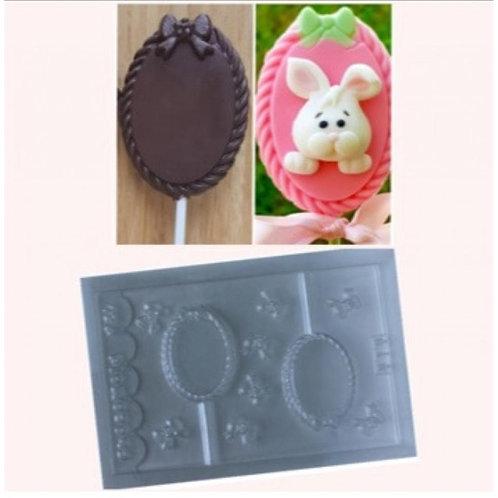Forma de chocolate para Piruito Trançado