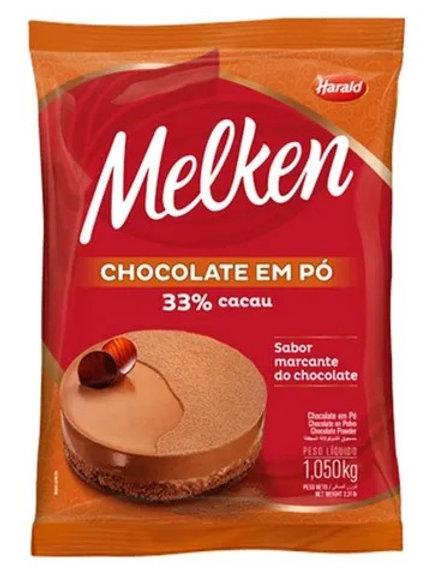 Chocolate em pó 33% cacau Melken