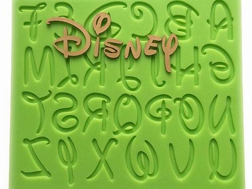 Molde de silicone alfabeto Disney