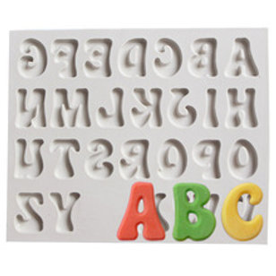 Molde de silicone alfabeto