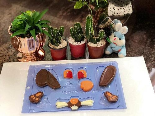 Forma para chocolate partes do ceolho Porto Formas