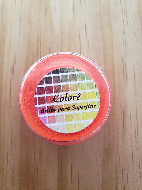 Corante em pó laranja escuro fluor Lully Candy