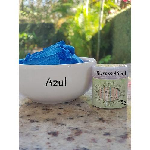 Corante em pó azul hidrossolúvel Lully Candy