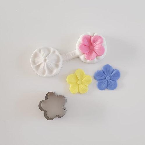 Kit cortador e marcador de flor