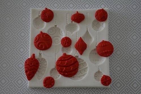 Molde de silicone bolas de natal