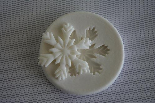 Molde de silicone flocos de neve
