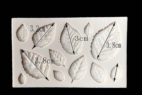 Molde de silicone kit de folhas