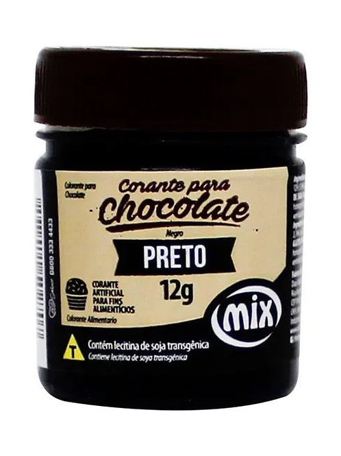 Corante para chocolate preto Mix