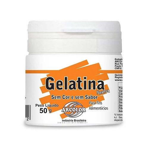 Gelatina incolor sem sabor Arcolor