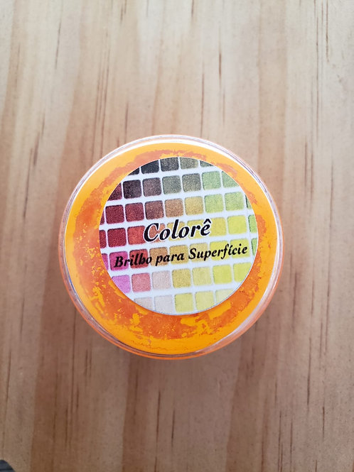 Corante em pó laranja claro fluor Lully Candy