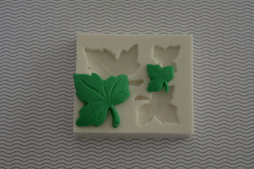 Molde de silicone folhas 05