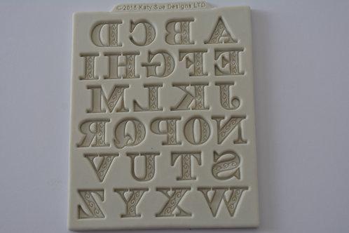 Molde de silicone alfabeto com arabescos