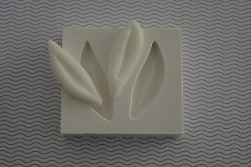 Molde de silicone orelhas de coelho