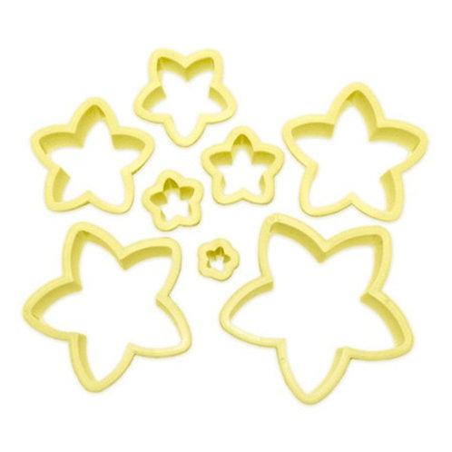 Kit Cortador de Estrela Blue Star com 8 peças