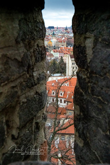 VIEW OVER PRAGUE FROM FLETCHER'S NOTCH ON CASTLE RAMPART