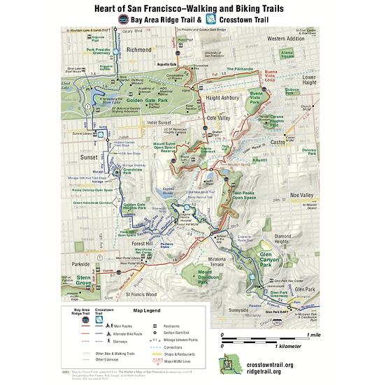 Heart of San Francisco Trail Map