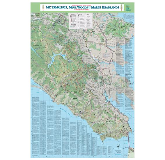 Poster: Mt Tam, Muir Woods & Marin Headlands