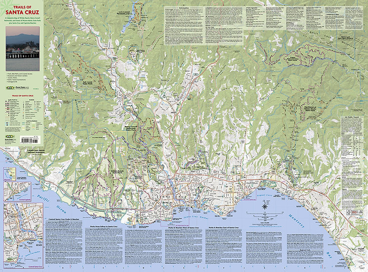 Unfolded Trails of Santa Cruz Map