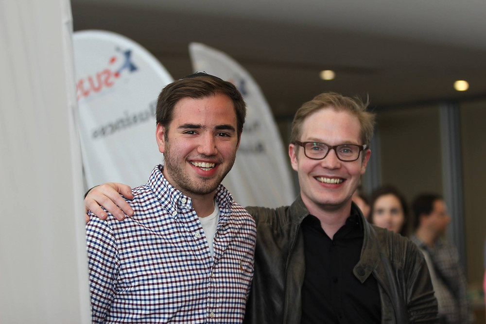 Josh Seitler together with SUJS-President Michel Holz