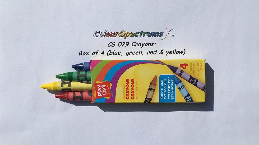 CS 029 Crayons: Box of 4