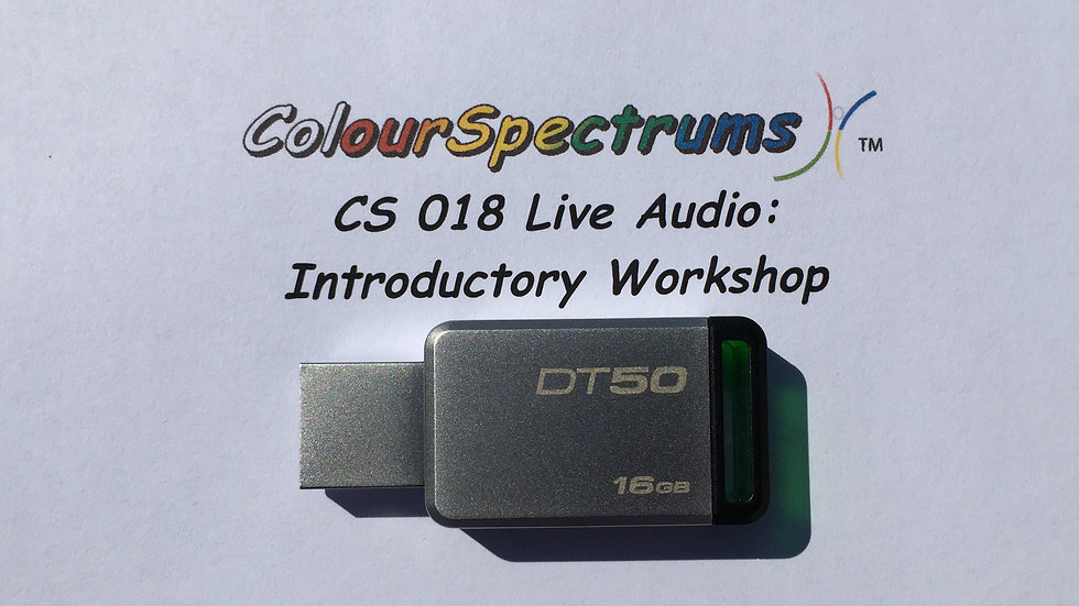 CS 018 Live Audio: Introductory Workshop for Facilitators -USB