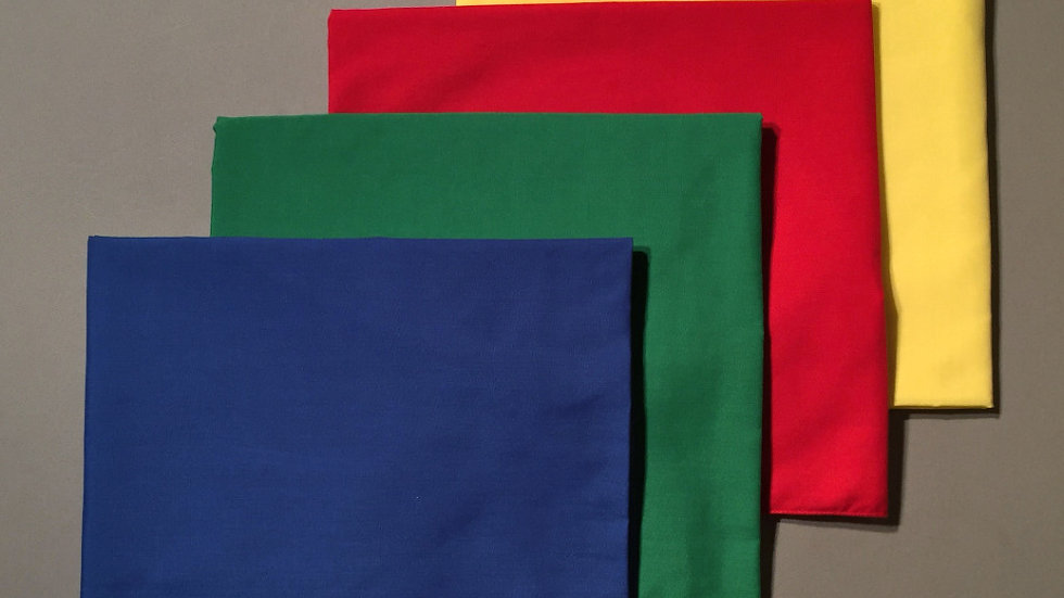 CS 017 Tablecloths - Set of 4 (blue, green, red and yellow)