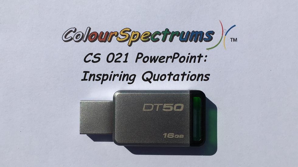 CS 021 PowerPoint: Inspiring Quotations -USB