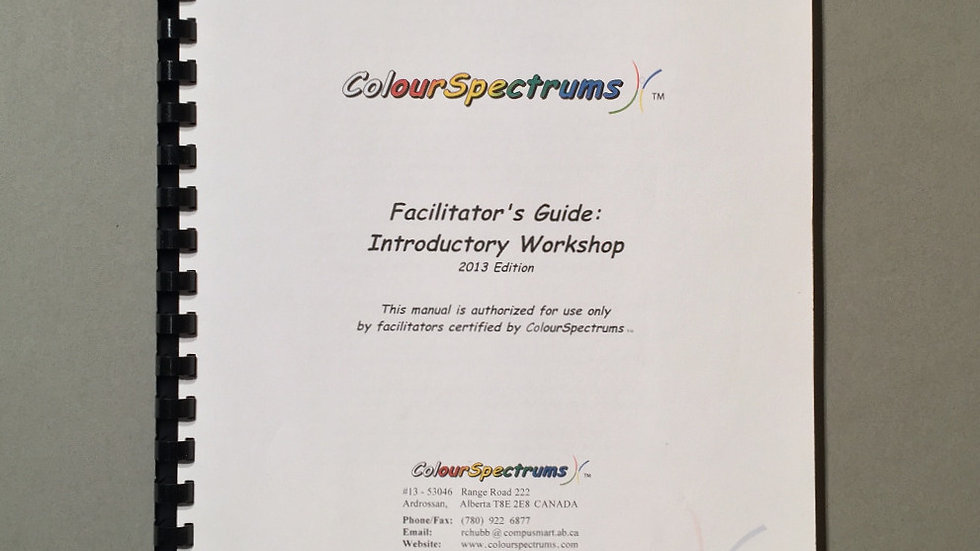 CS 002 Facilitator's Guide: Introductory Guide (2013 ed.)