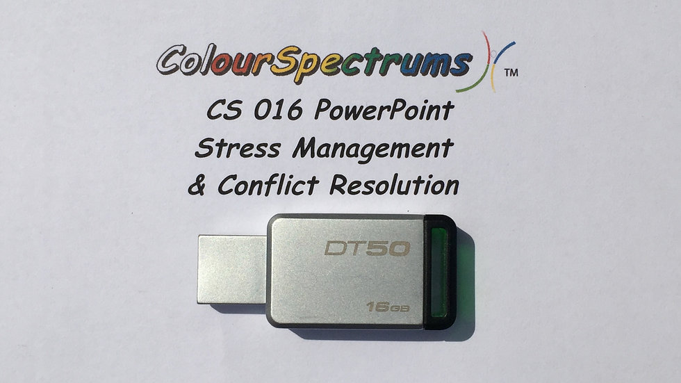 CS 016 PowerPoint: Stress Management & Conflict Resolution (2013 ed.) - USB
