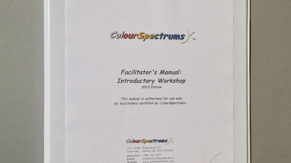 CS 003 Facilitator's Manual: Introductory Workshop (2013 ed.)