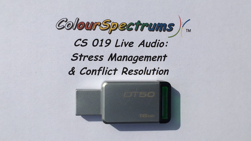 CS 019 Live Audio: Stress Management & Conflict Resolution -USB