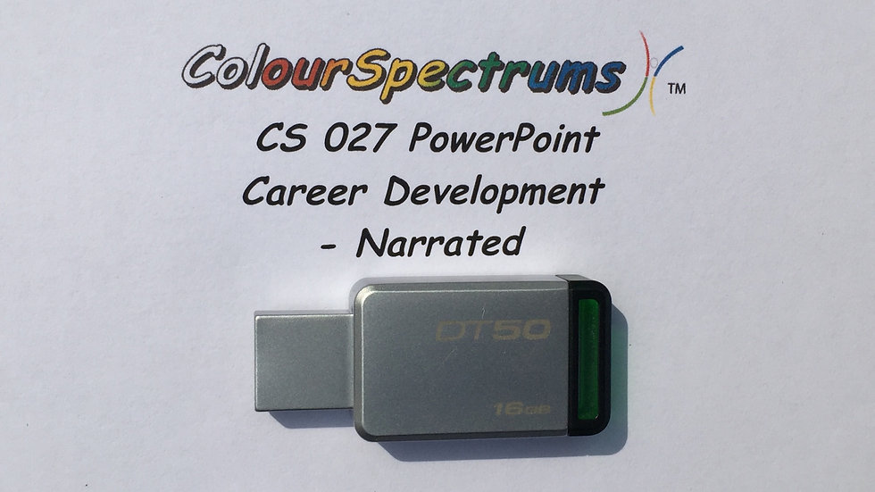 CS 027 PowerPoint: Career Development Module - Narrated - USB
