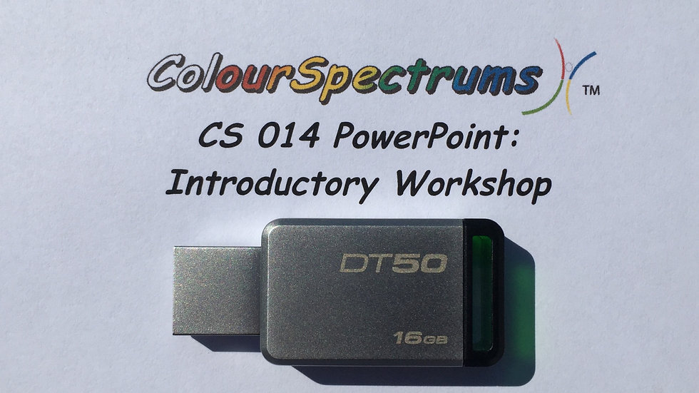 CS 014 PowerPoint: Introductory Workshop (2013 ed.) - USB
