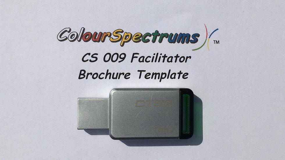 CS 009 Facilitator Brochure Template - USB