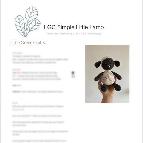 Simple Little Lamb Pattern