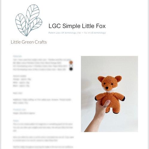 Simple Little Fox Pattern