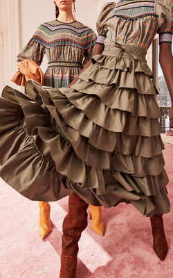 Margot Cotton Tiered Skirt by Ulla Johns