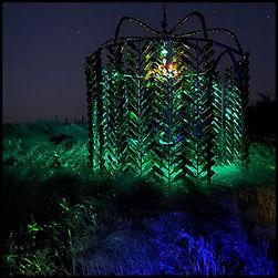 Emerald Glass Castle by Sharon Holnback  + Troy Letwak, 2018 Photo © Patricia Katchur 2021