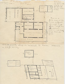 Triangle L Ranch in Oracle, Arizona -  early  20th century building layout