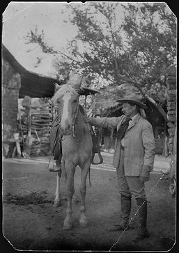 - Will Ladd with his pet Mare Gypsy Orac
