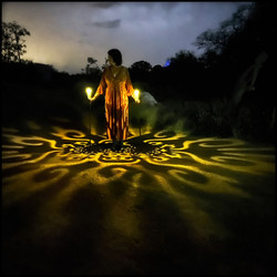 GLOW! is a dreamy, trippy, engaging, fun, wondrous, magical and whatever you want it to be!  Photos of Sharon Holback with Lantern Shadows  © Patricia Katchur