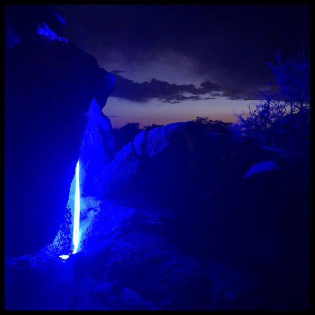 Blue Desert Installation by Mario Lopez