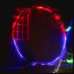 2021 GLOW  hosted by ART RANCH at Triangle L Ranch along the Sculpture Park + Magic Path contemporary site specific installations, projections, performance art, sculptures, musical acts and GLOWing costumes