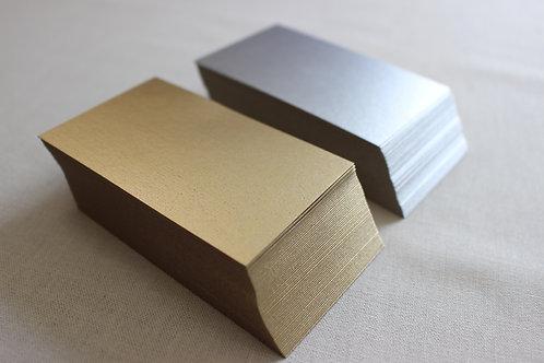 厚紙 名刺サイズ 50枚 金or銀